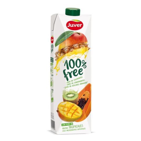 ZUMO FRUTAS TROPICALES 100% FREE JUVER 1L