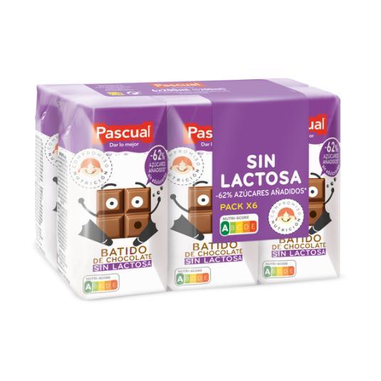 BATIDO CHOCOLATE S/LACTOSA PASCUAL P6 200ML/U
