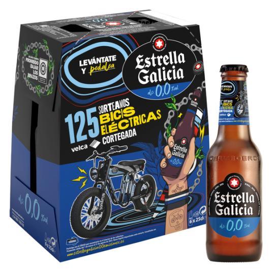 CERVEZA 0.0 CRISTAL ESTRELLA GALICIA P4 25CL/U
