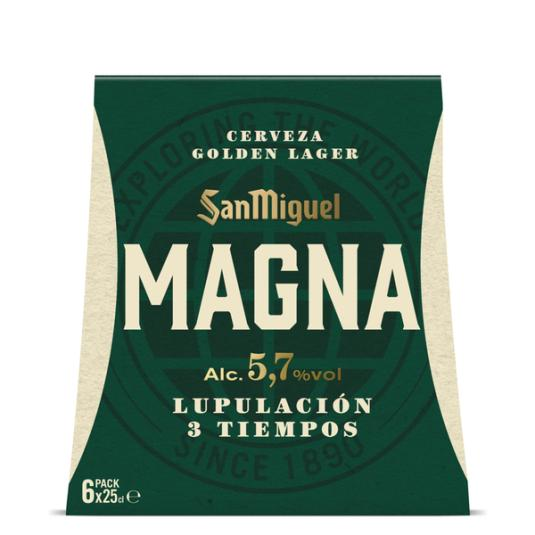 CERVEZA MAGNA BOTELLIN SAN MIGUEL 330ML/U P6