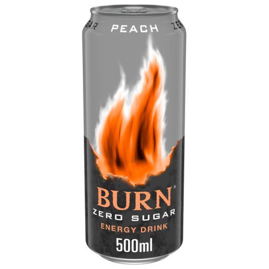 BEBIDA ENERGETICA ZERO PEACH BURN 500ML