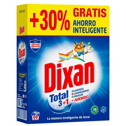 DETERGENTE POLVO TOTAL +30% DIXAN 55+17D