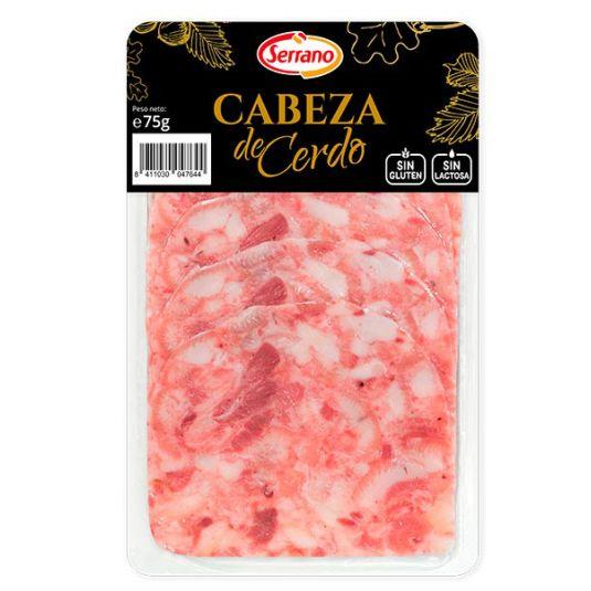 CABEZA CERDO LONCHAS SERRANO 75GR