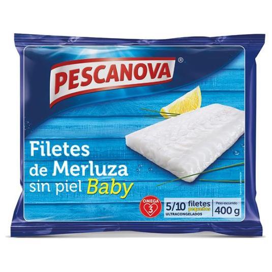 FILETE MERLUZA S/PIEL BABY PESCANOVA 400G