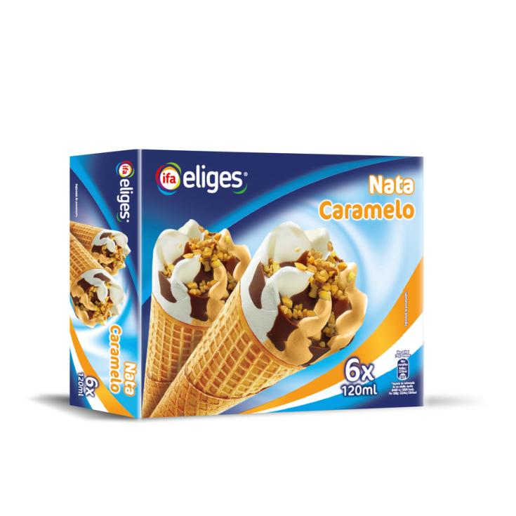CONO NATA CARAMELO IFA ELIGES P6 120ML/U