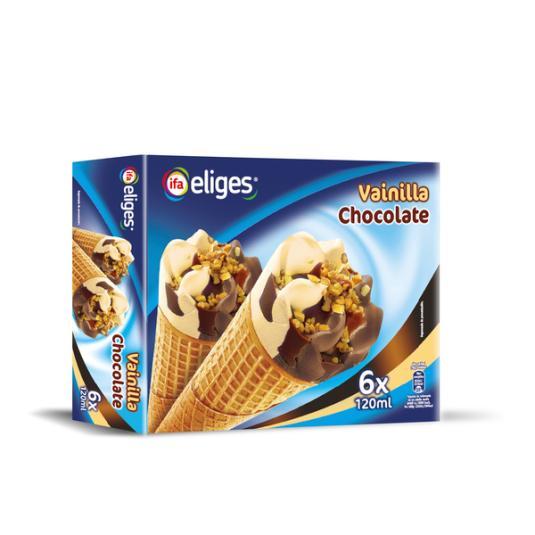 CONO VAINILLA CHOCOLATE IFA ELIGES P6 120ML/U