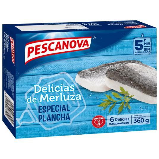 DELICIAS MERLUZA ESPECIAL PLANCHA PESCANOVA 360G