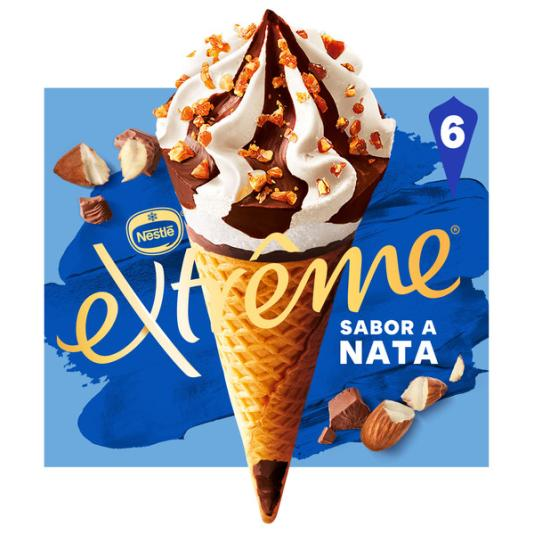 CONO HELADO NATA EXTREME P6 110ML/U