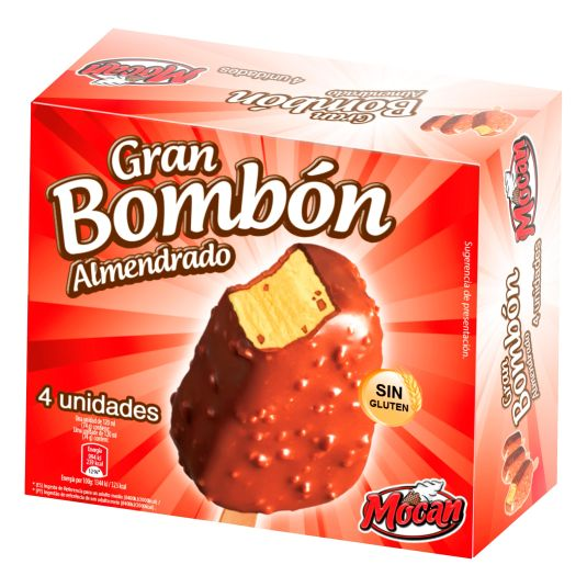 HELADO BOMBON ALMENDRADO MOCAN P4 120ML/U