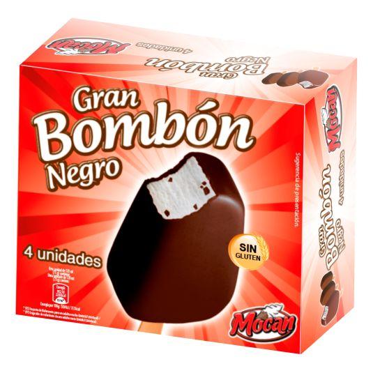 HELADO BOMBON NEGRO MOCAN P4 120ML/U