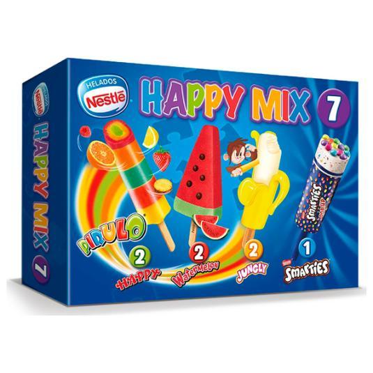 HELADO INFANTIL HAPPY MIX NESTLE P7