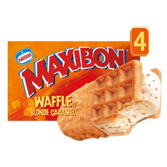 HELADO SANDWICH WAFFLE MAXIBON P4 100ML/U