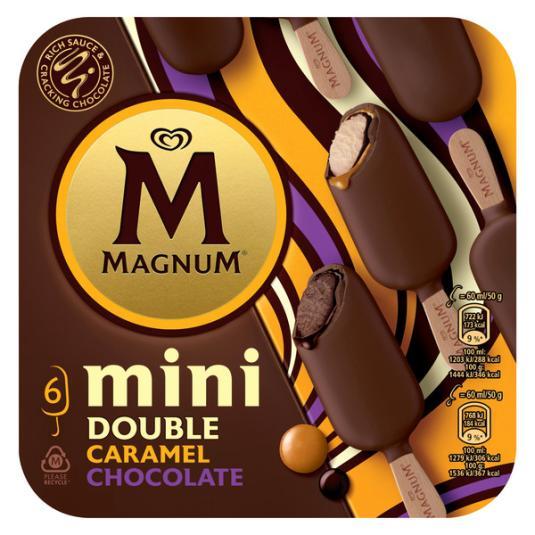 MINI BOMBON DOUBLE CHOCOLATE CARAMELO MAGNUM P6